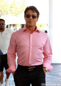 Sylvester Stallone Makes Pink Macho!